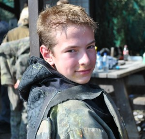 Me when I went paintballing with a few friends.