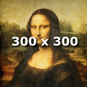 Mona Lisa 300 x 300 pixels cover art added to an mp3