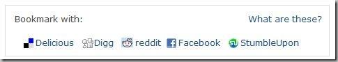 BBC Article bookmarking toolbar