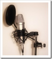 Microphone and pop shield
