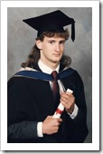 My graduation photo, 1989