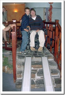 Wheelchair Ramps up Steps