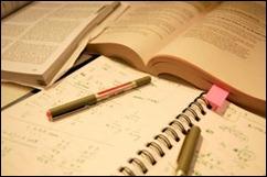 Studying books