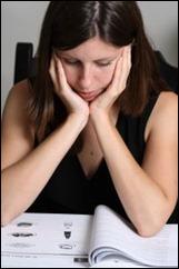 Girl studying book